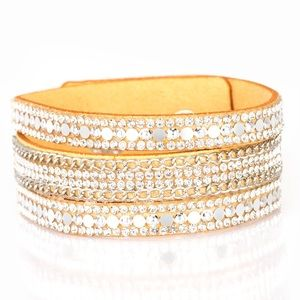 Fashion Fanatic Yellow Wrap Leather Bracelet
